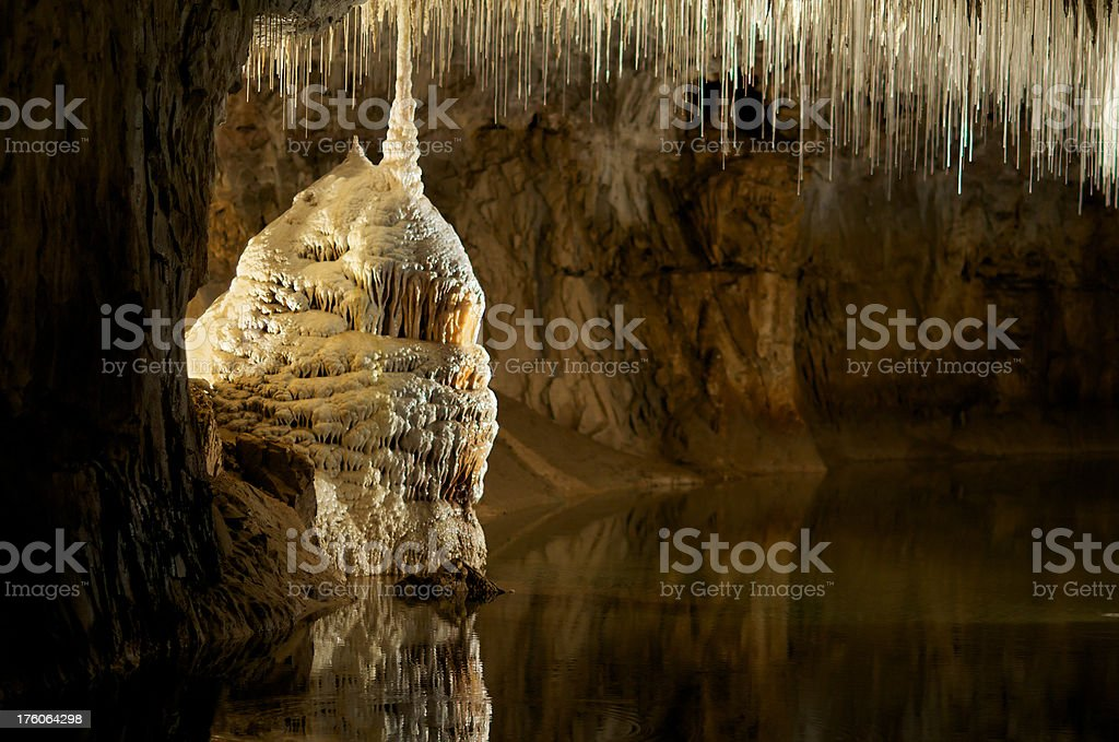 Grotte de Choranche stock photo
