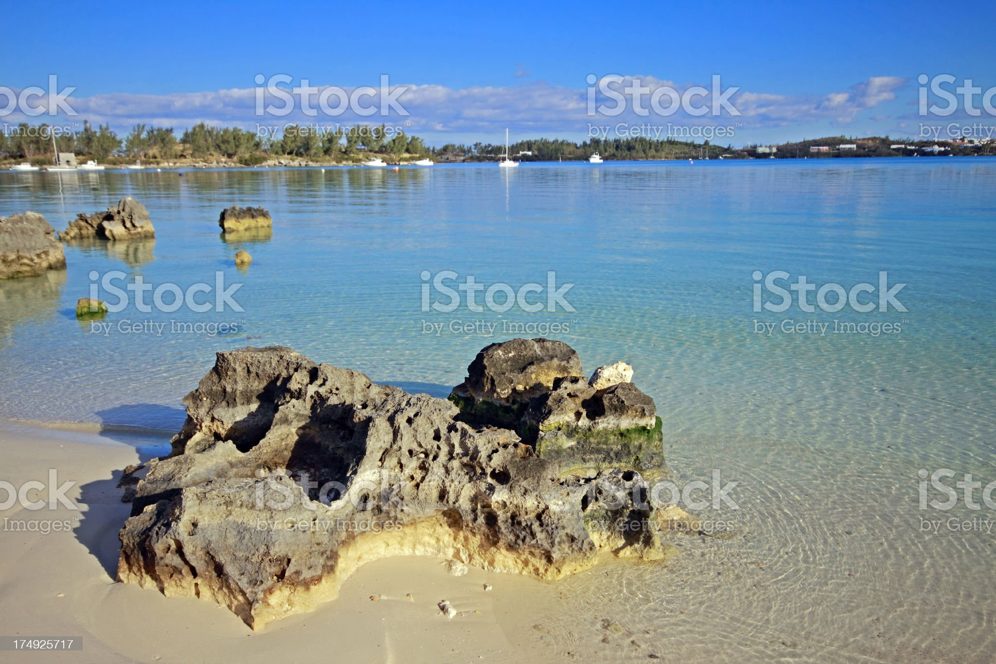 Grotto Bay Beach royalty-free stock photo