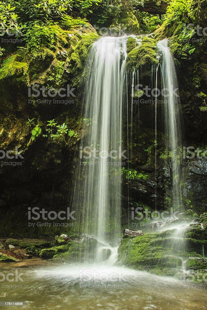 Grotto Falls, Great Smoky Mountain National Park stock photo