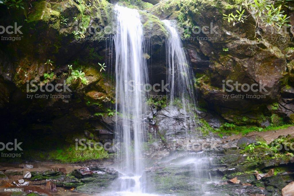 Grotto Falls, Great Smoky Mountains National Park stock photo