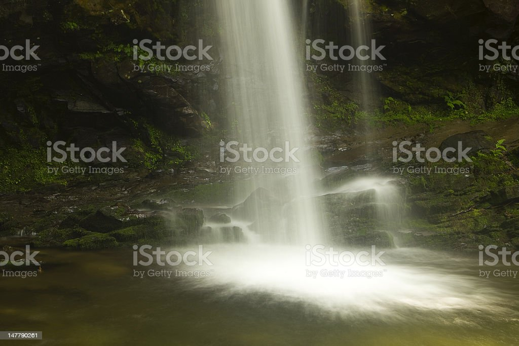 Grotto Falls in the Smokies royalty-free stock photo