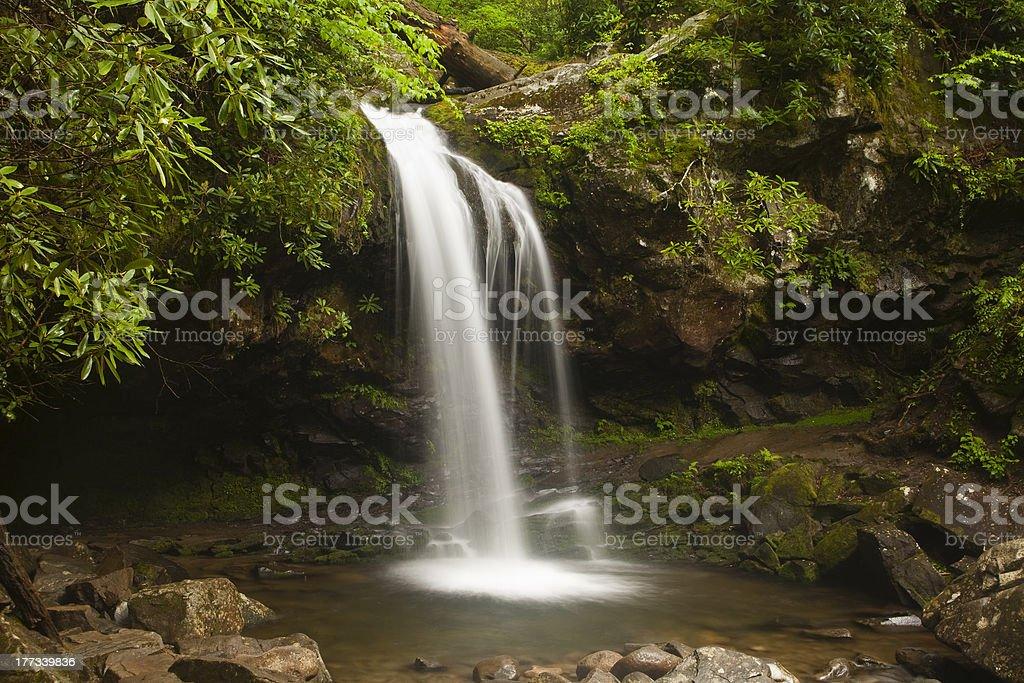 Grotto Falls - Smoky Mountains stock photo