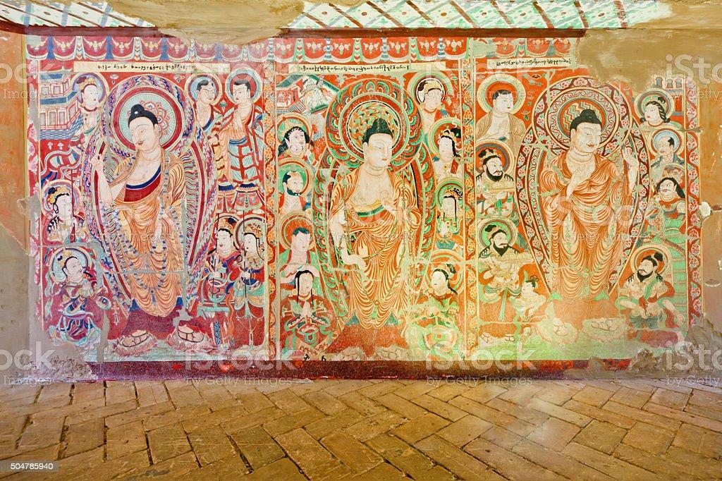 Grotto Murals in Xinjiang(Kucha Murals) stock photo