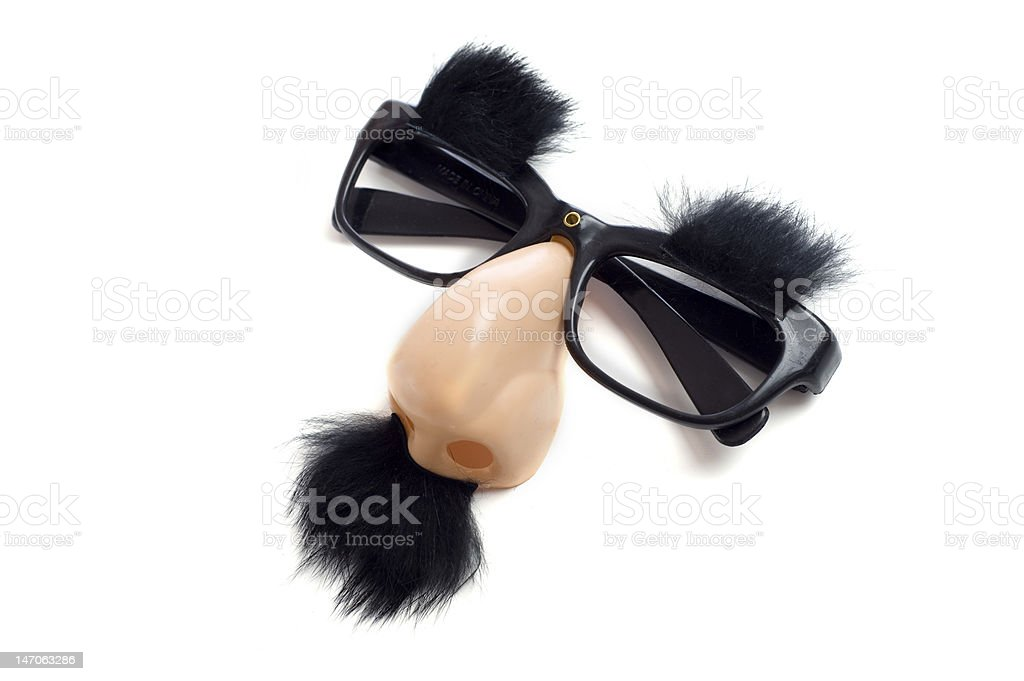 Groucho or  Funny Glasses stock photo
