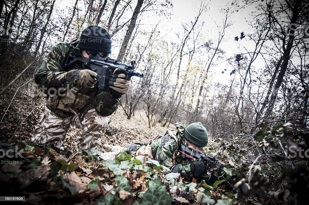 Ground assault stock photo
