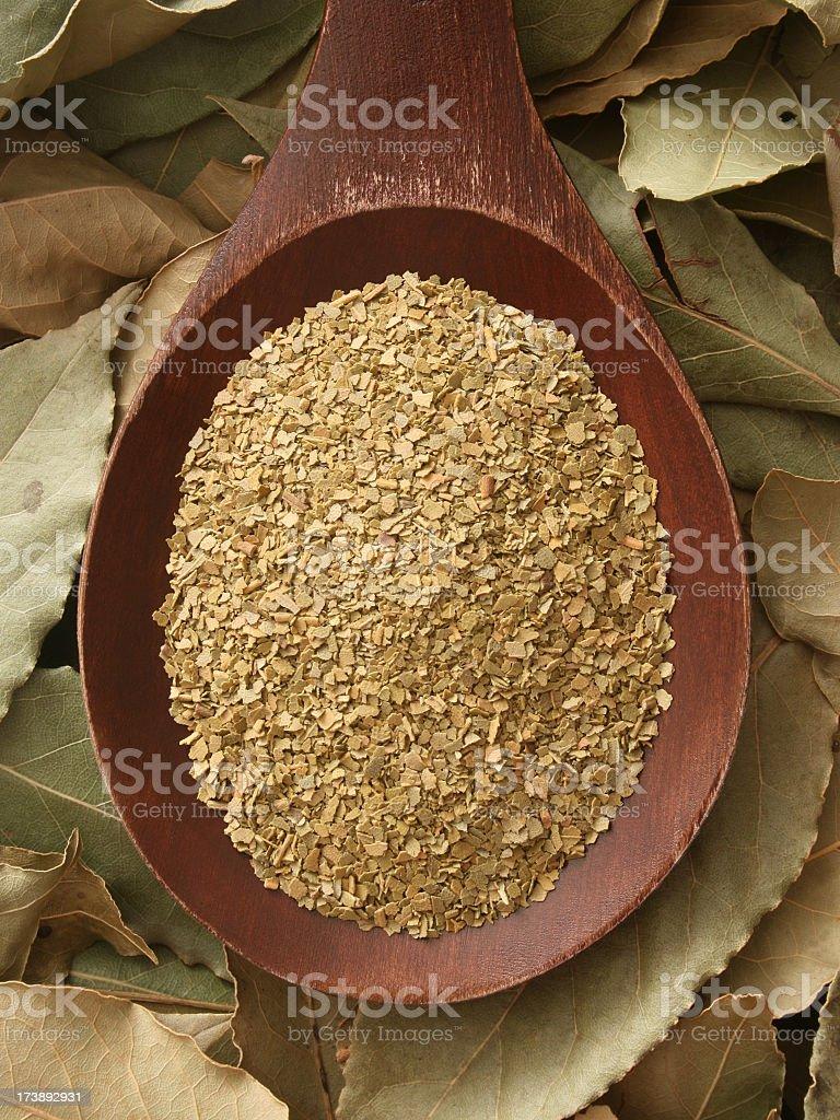 Ground bay leaf royalty-free stock photo