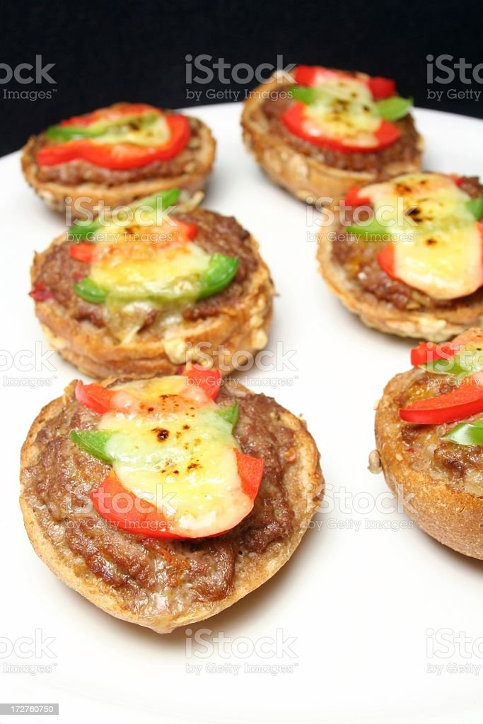 Ground Beef Canapes stock photo