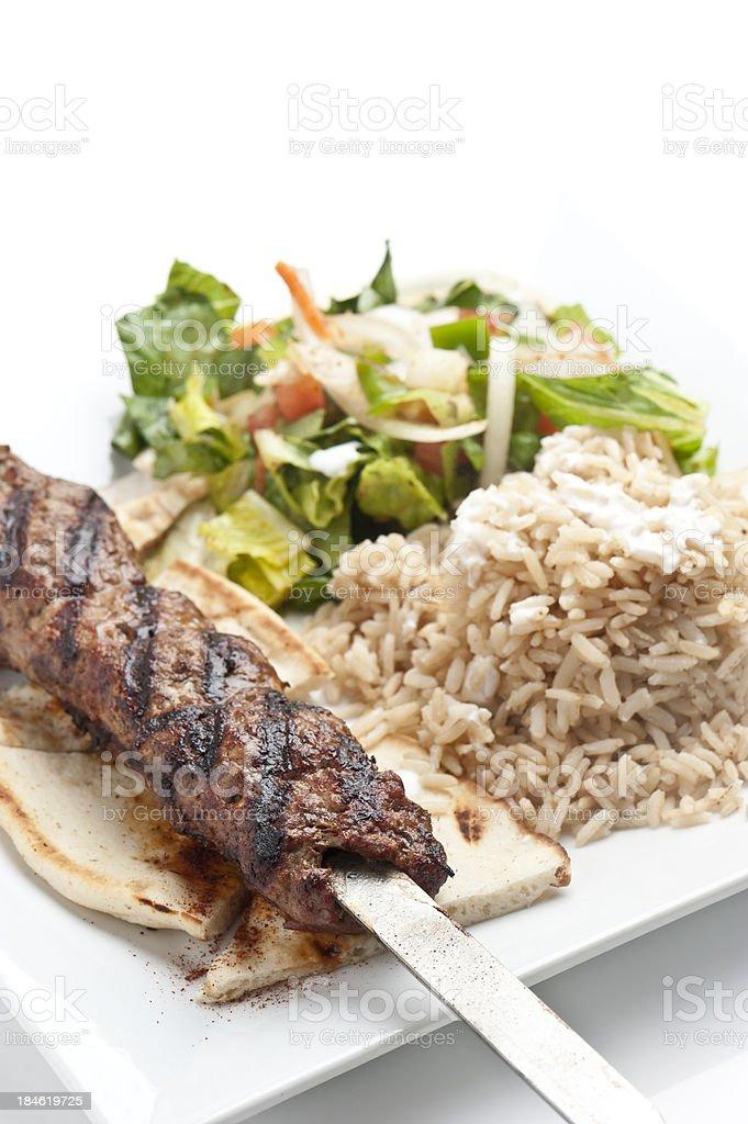 Ground beef kebab stock photo