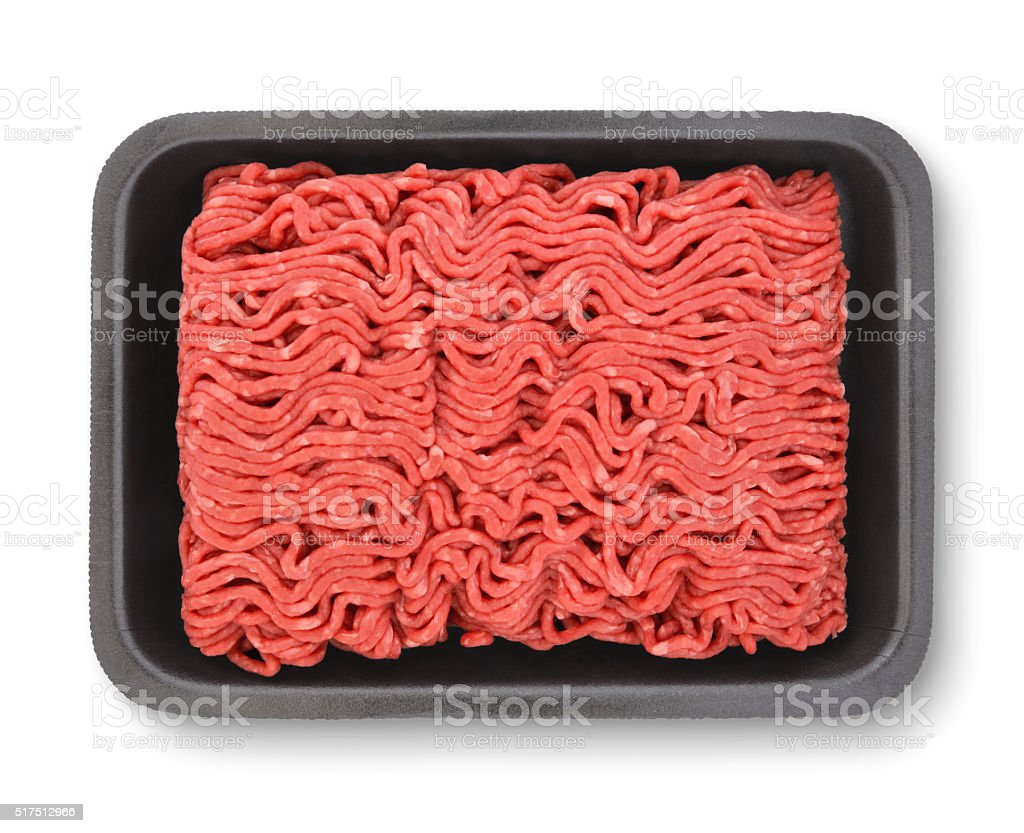 Ground Beef (with path) stock photo