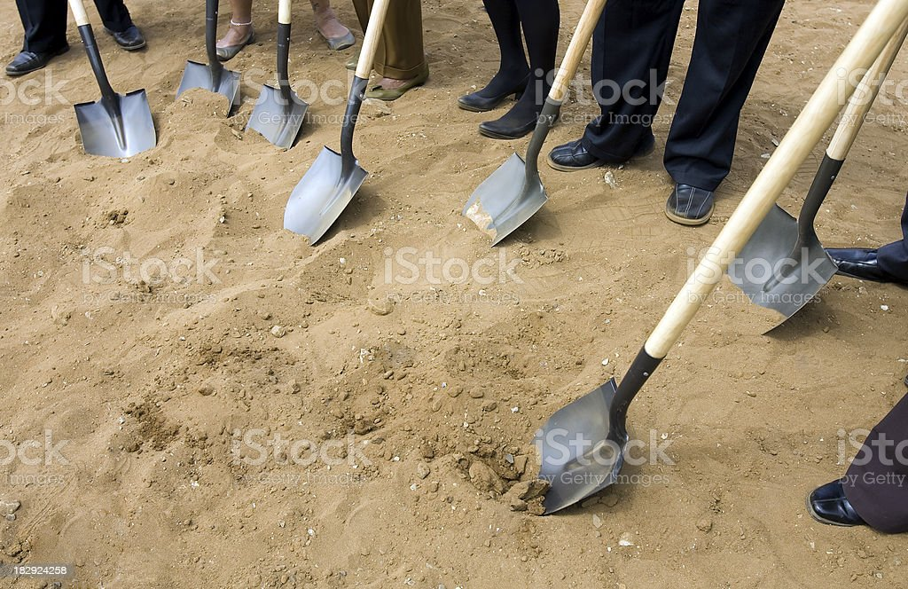 Ground Breaking Ceremony stock photo