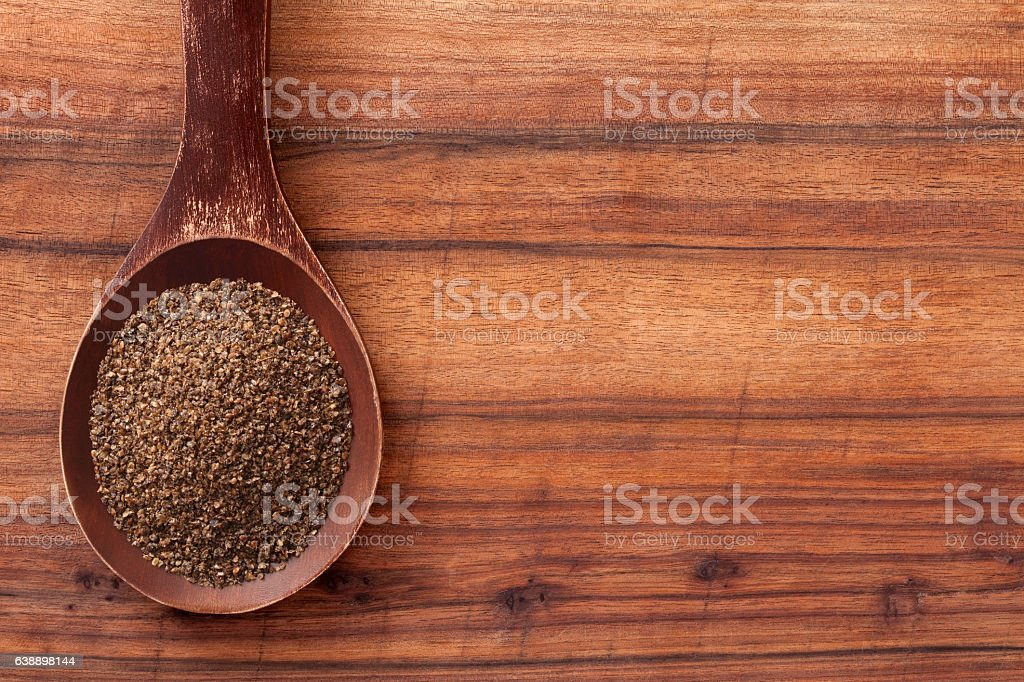 Ground chia seeds stock photo