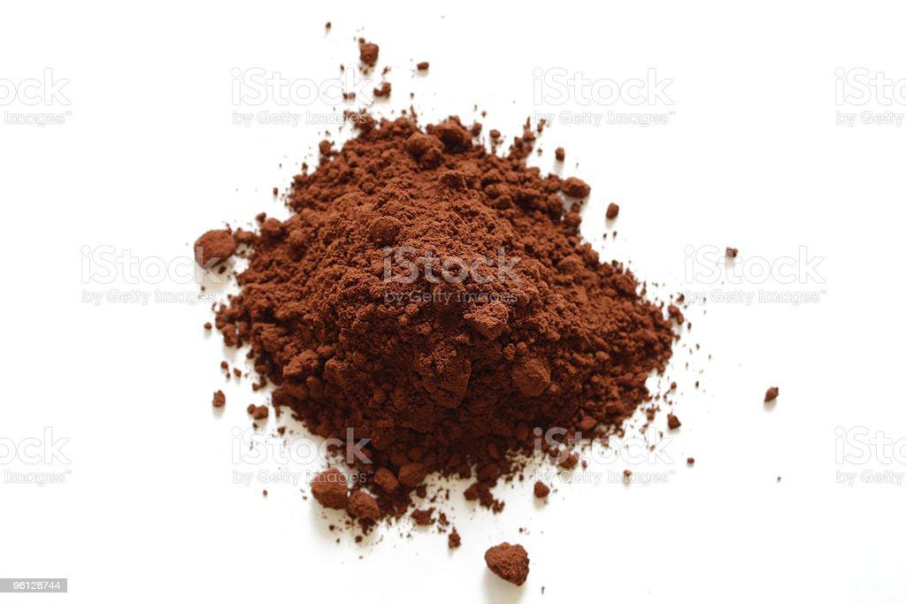 Ground chocolate stock photo