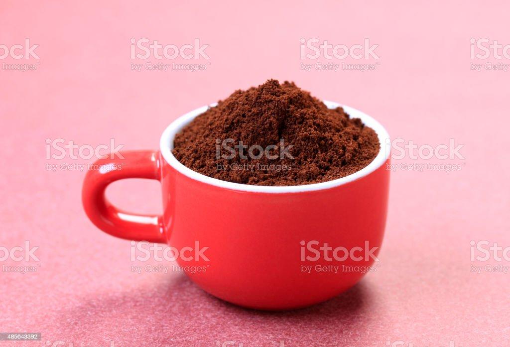 Ground coffee stock photo