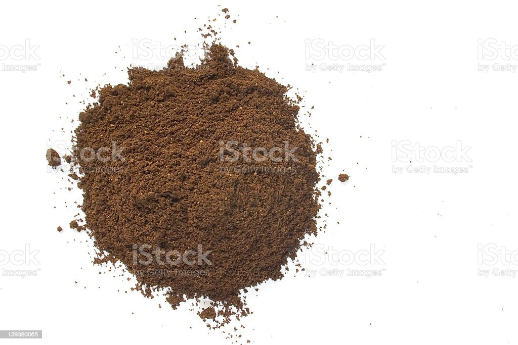 Ground Coffee Pile stock photo