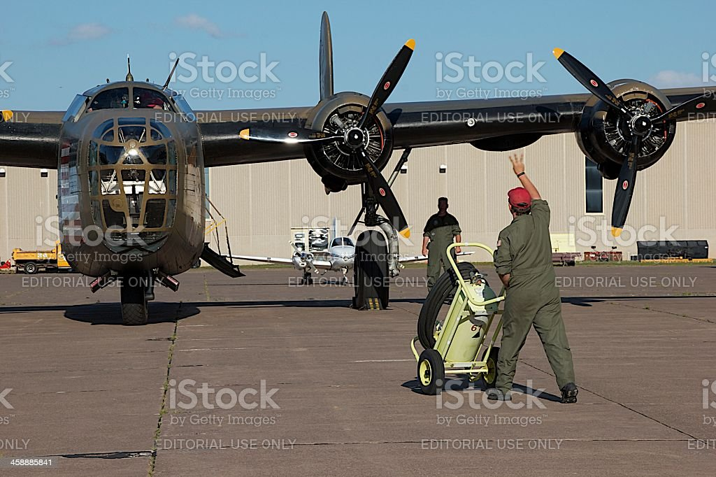 Ground Crew stock photo
