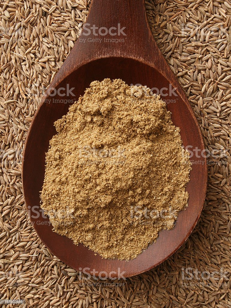 Ground cumin stock photo