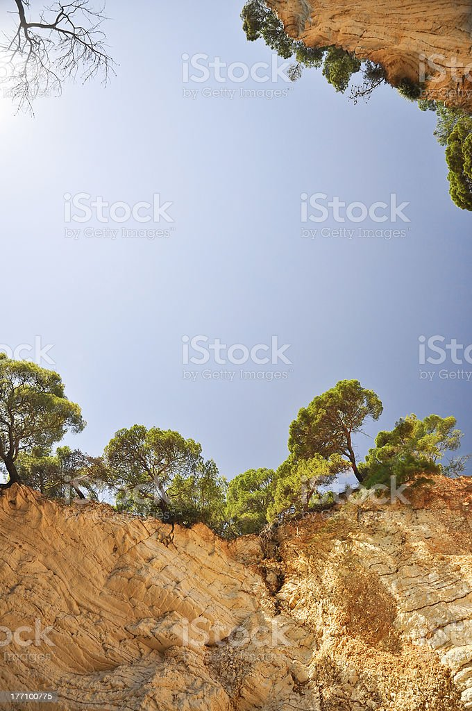 Ground erosion royalty-free stock photo
