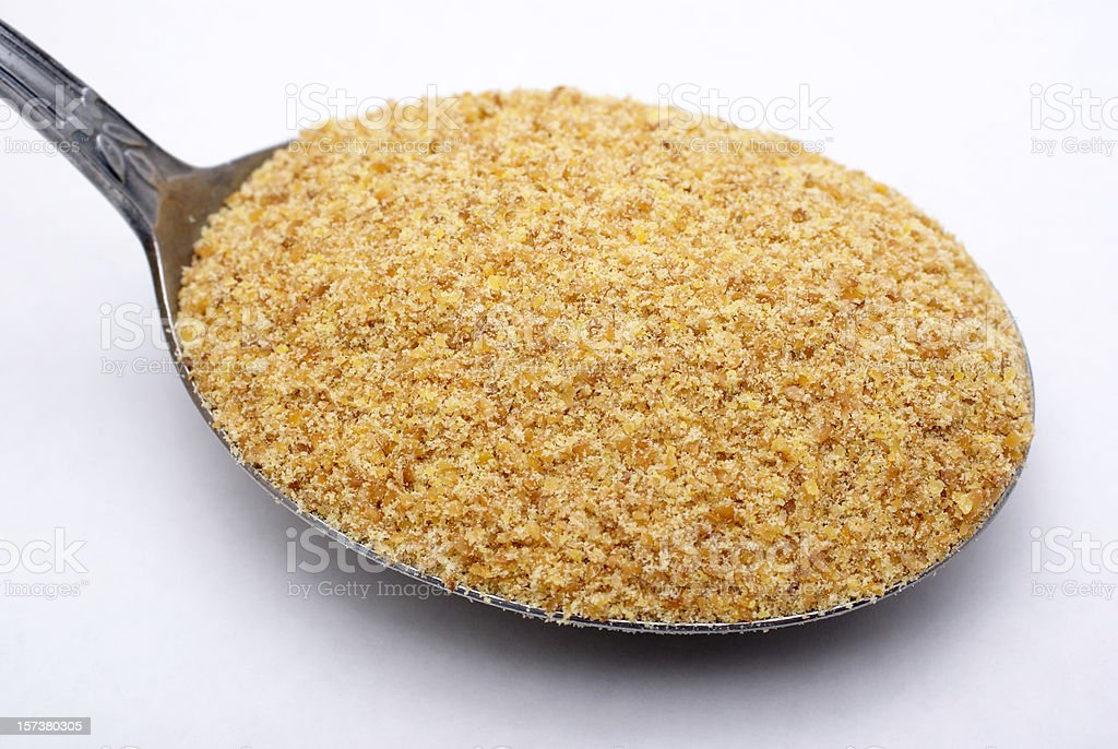 ground flax seed royalty-free stock photo