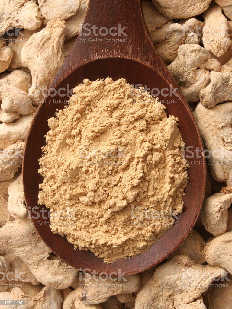 Ground ginger royalty-free stock photo