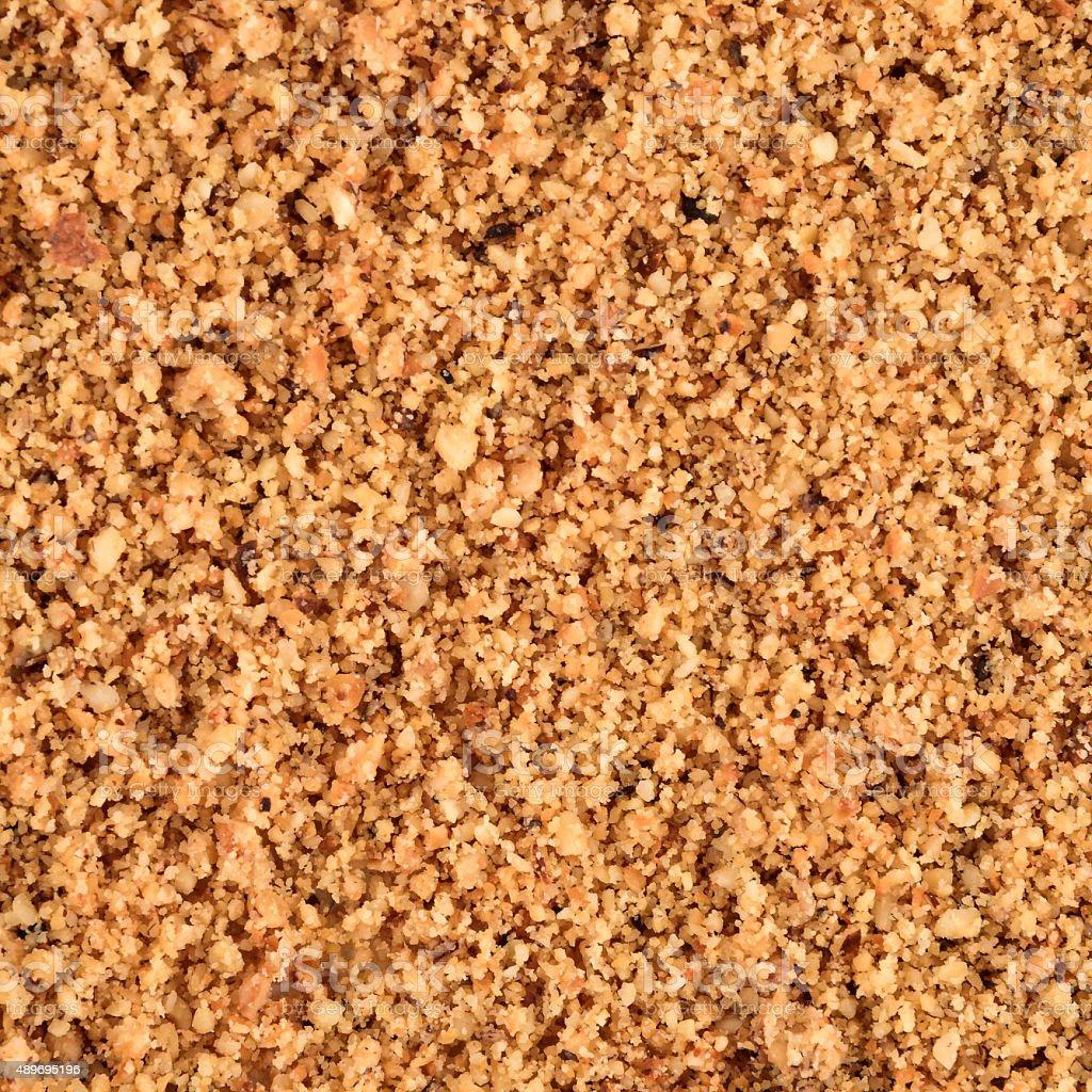 Ground Hazelnut Pattern Texture Background stock photo