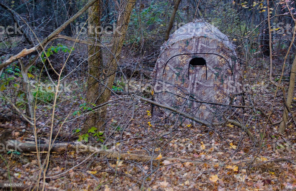 Ground Hunting Blind stock photo