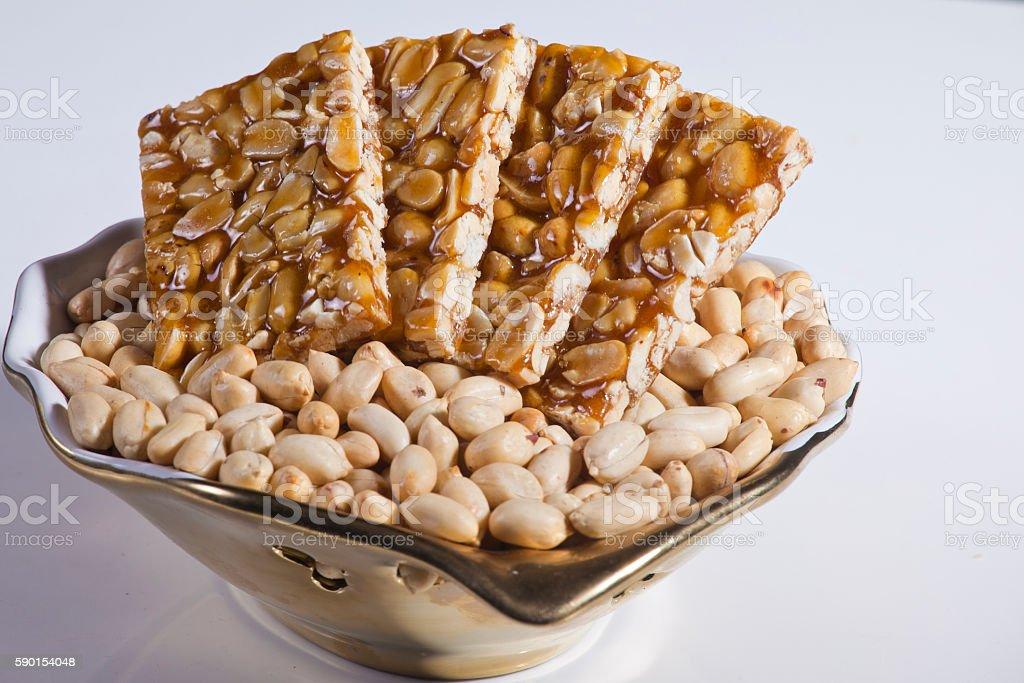 ground nut sweets stock photo
