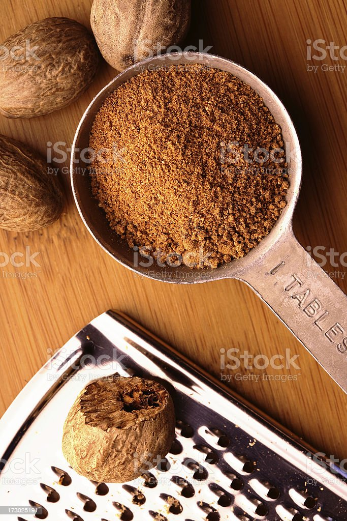 Ground Nutment in Measuring Spoon royalty-free stock photo