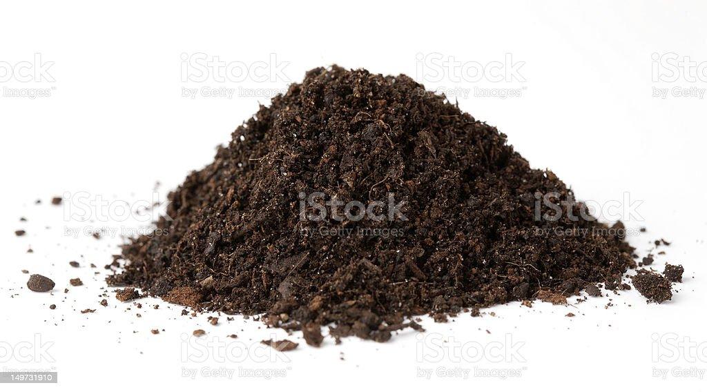 ground on a white background stock photo