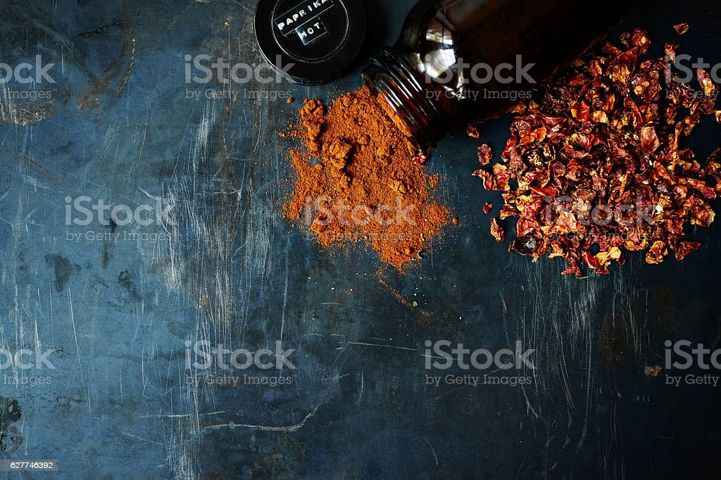 Ground Paprika stock photo