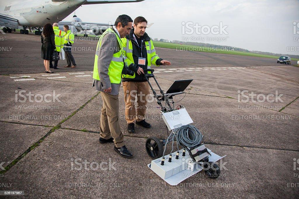 Ground penetrating Radar Machinery stock photo
