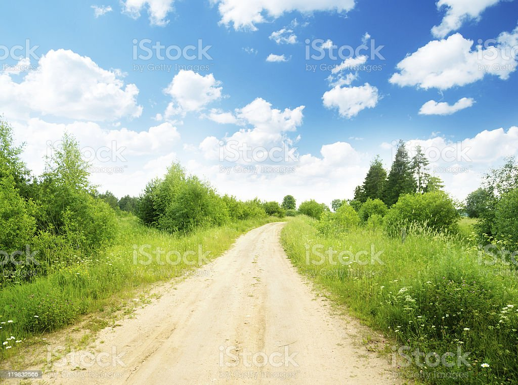 ground road and summer sunny day royalty-free stock photo