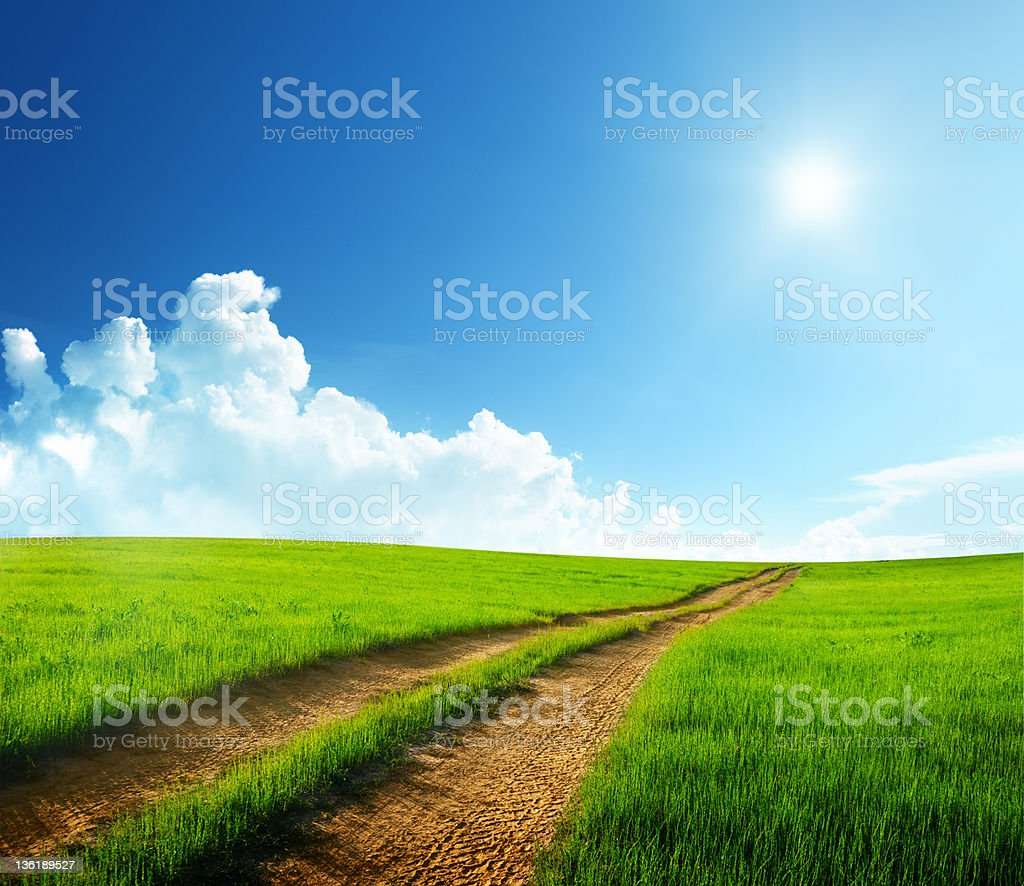 ground road and sunny day royalty-free stock photo