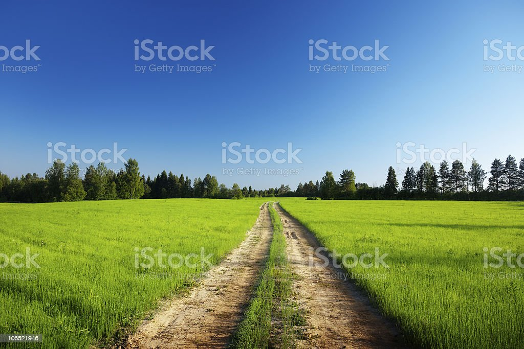 ground road and sunset royalty-free stock photo