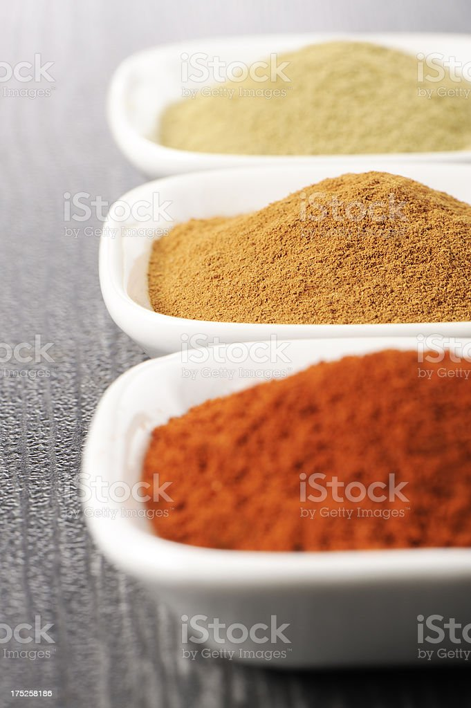 Ground spices royalty-free stock photo