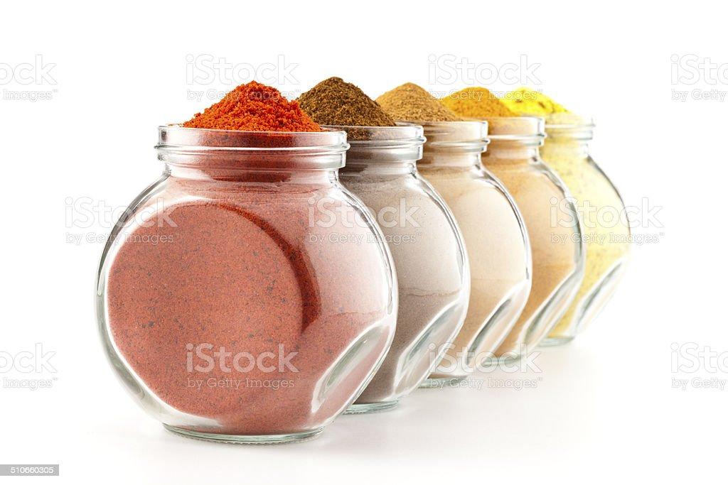 Ground Spices stock photo