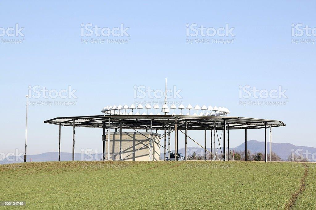 D-VOR (VHF omnidirectional radio range) ground station stock photo