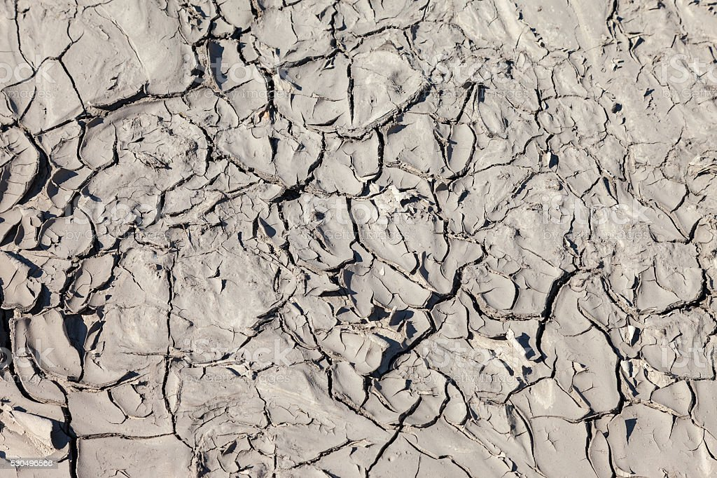 Ground surface with cracked as the background stock photo