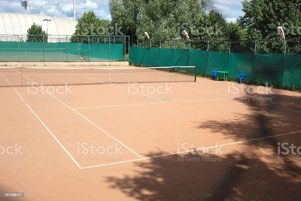 Ground tennis court stock photo