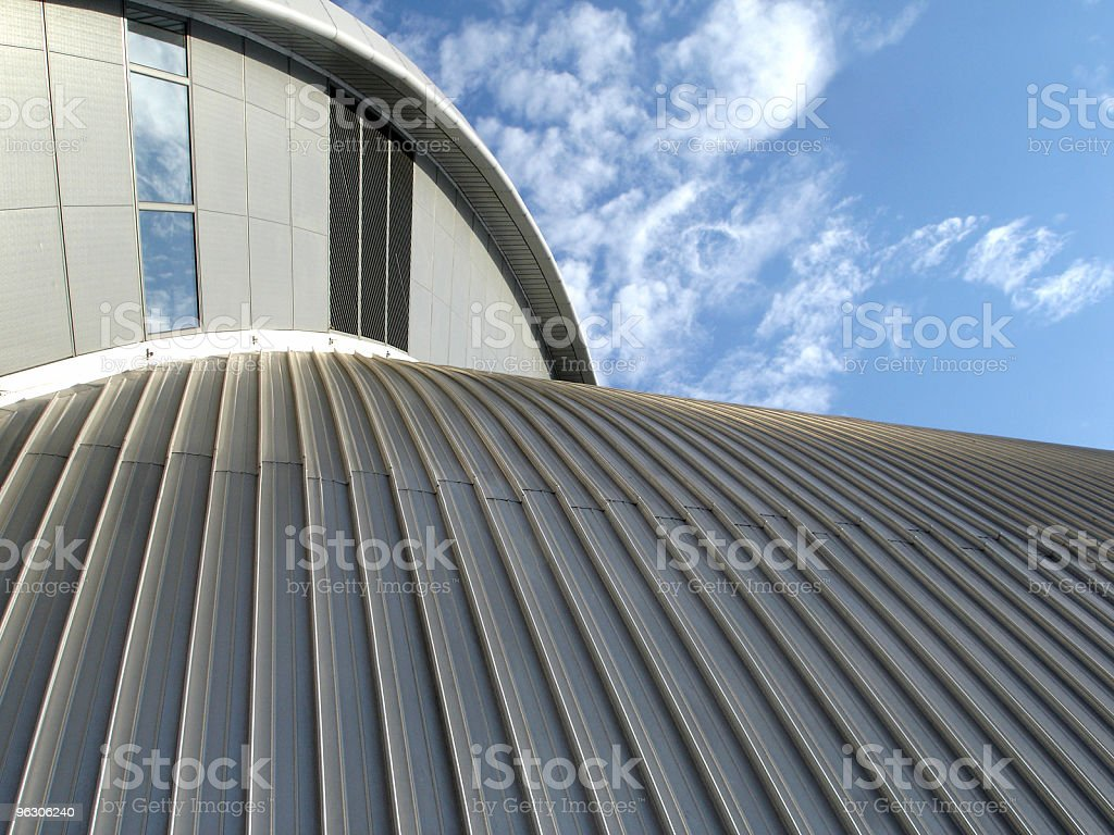 Ground view of abstract architecture exterior stock photo