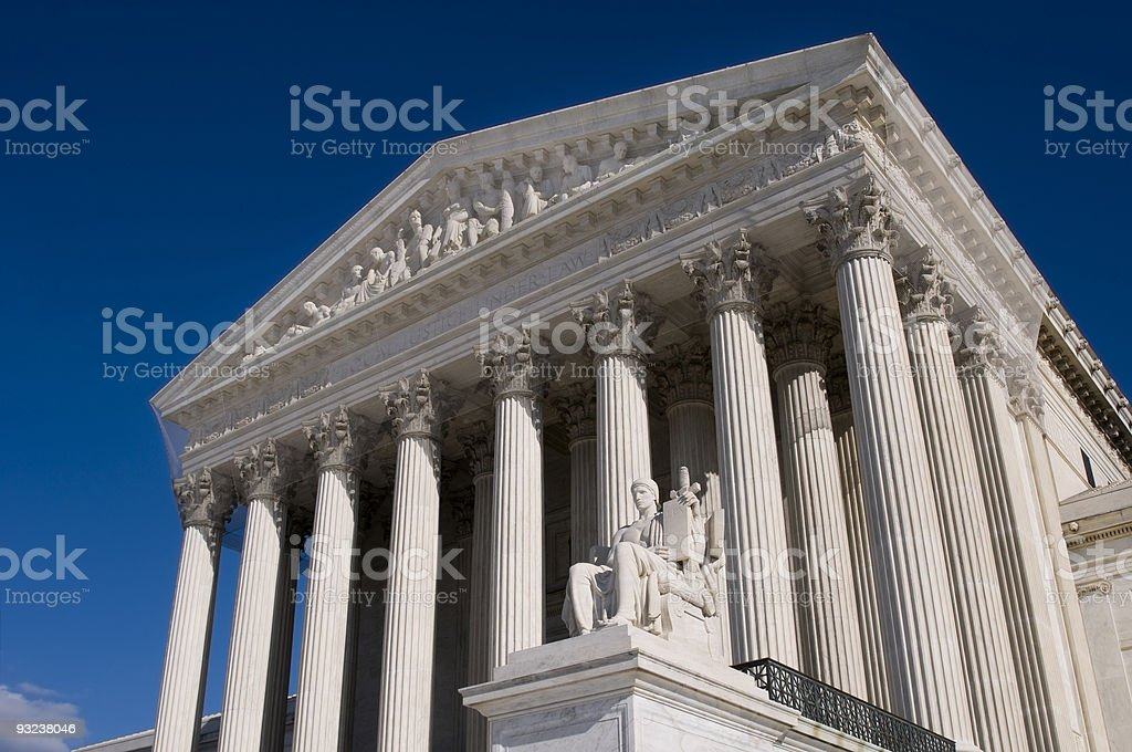 Ground view photo of the Supreme Court royalty-free stock photo