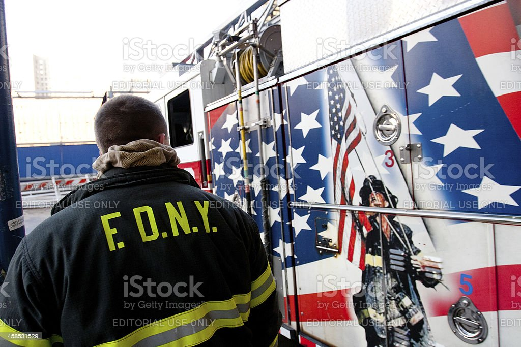 FDNY Ground Zero Fire Department stock photo