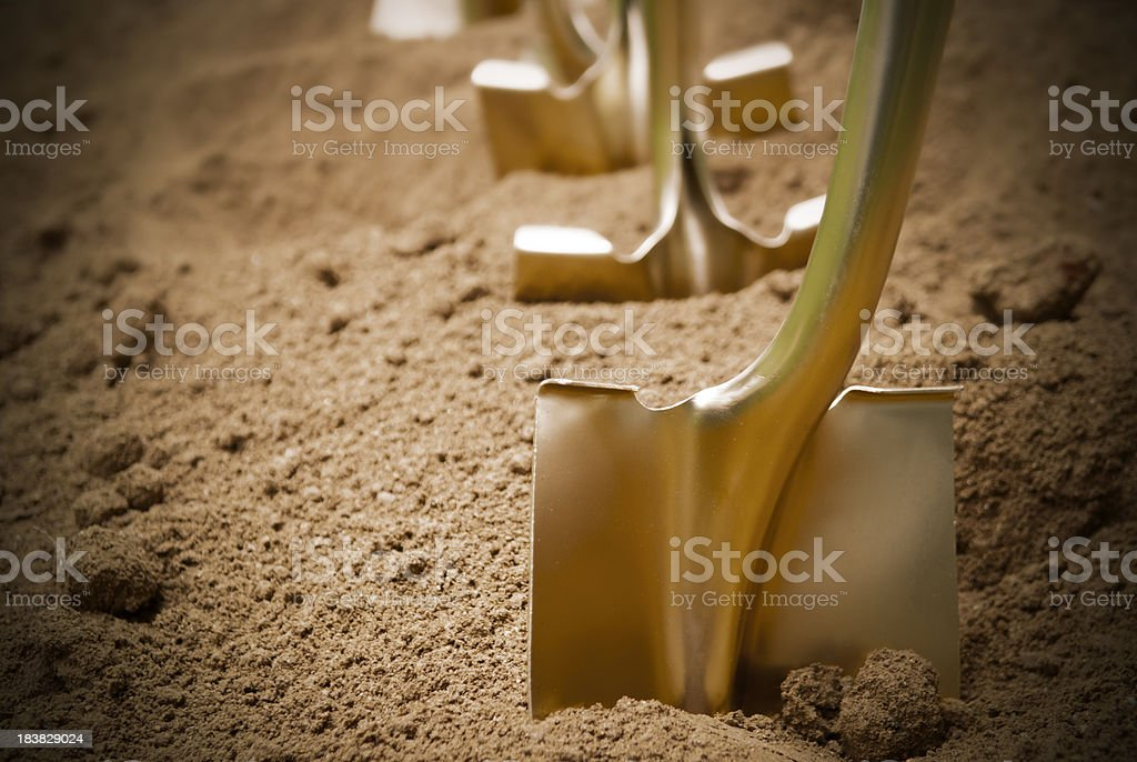 Groundbreaking stock photo
