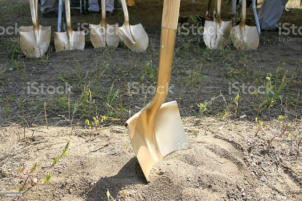 Groundbreaking Shovels stock photo