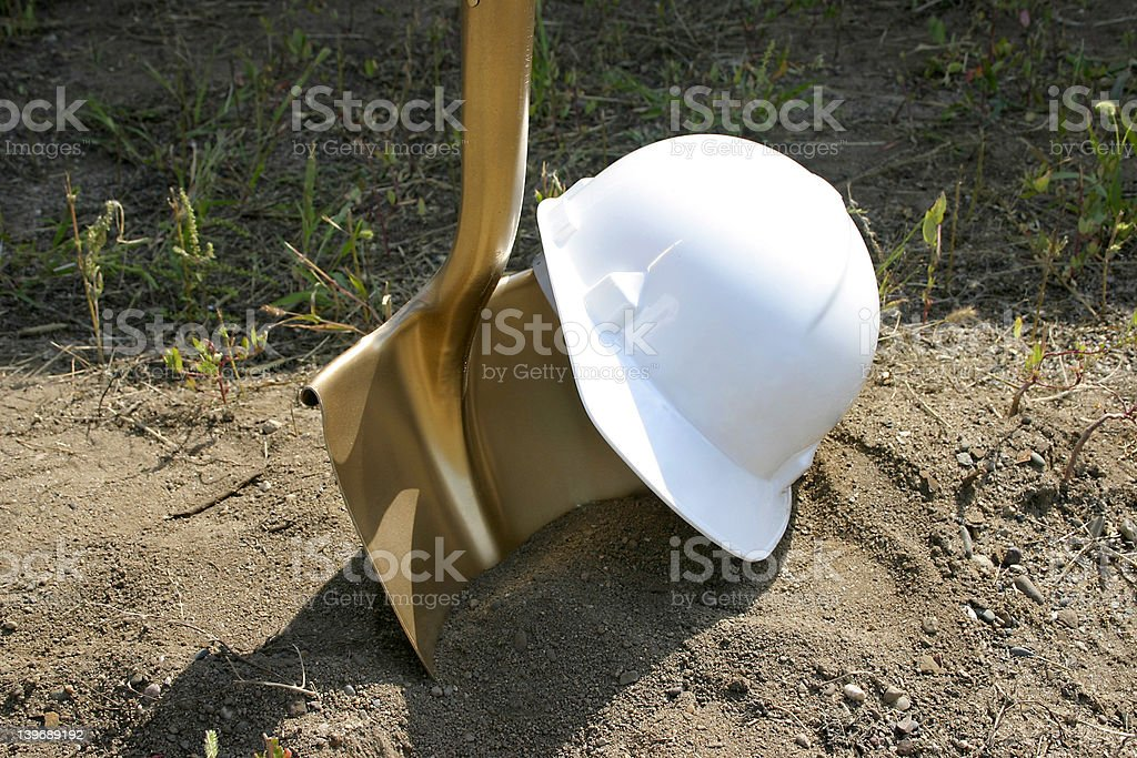 Groundbreaking Tools stock photo