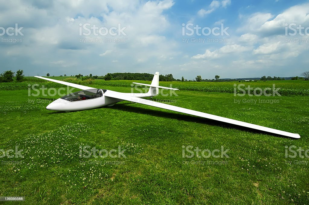 Grounded Glider royalty-free stock photo