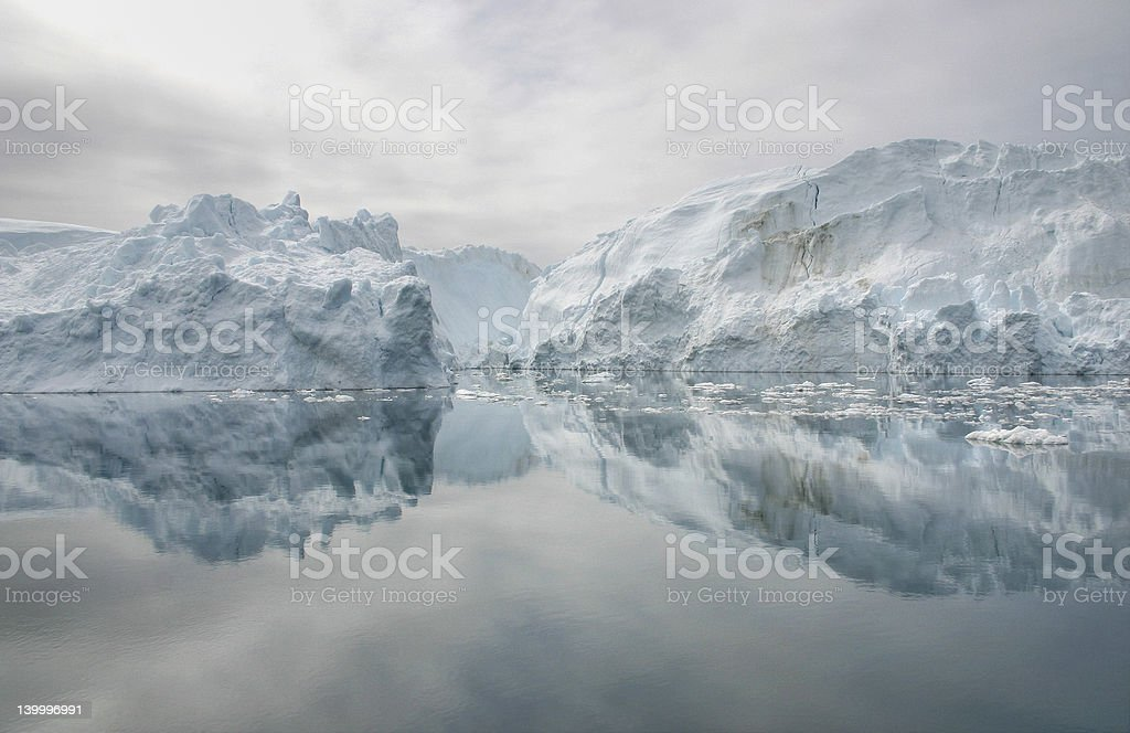 Grounded icebergs royalty-free stock photo
