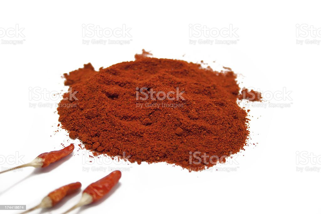 Grounded Red Chilli Peppers royalty-free stock photo