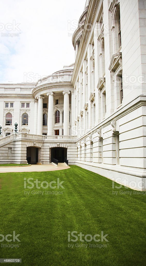 Grounds of the Wisconsin State Capitol in Madison royalty-free stock photo