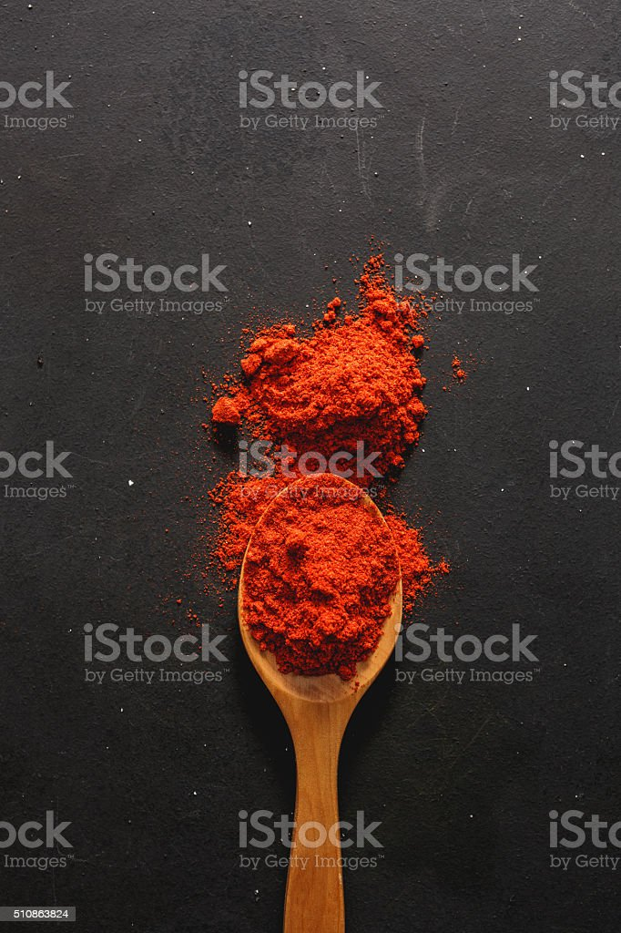 Grounds red paprika stock photo