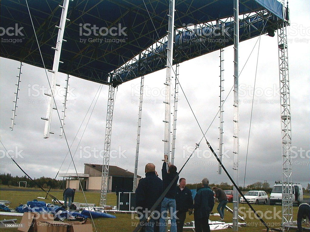 Ground-Support staging and roof system royalty-free stock photo